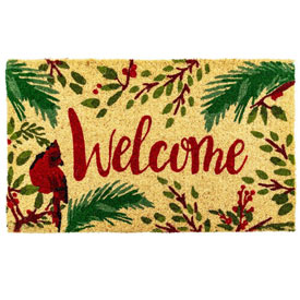 Winter Welcome Coir Mat