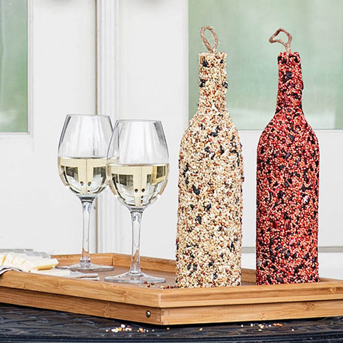 Birdseed Wine Bottles–Set of 2