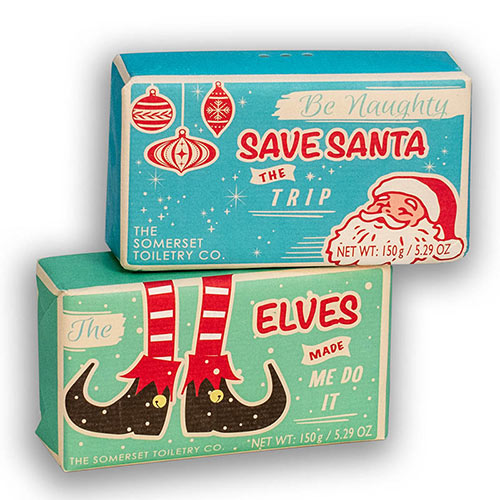 Lighthearted Holiday Soaps–Set of 2