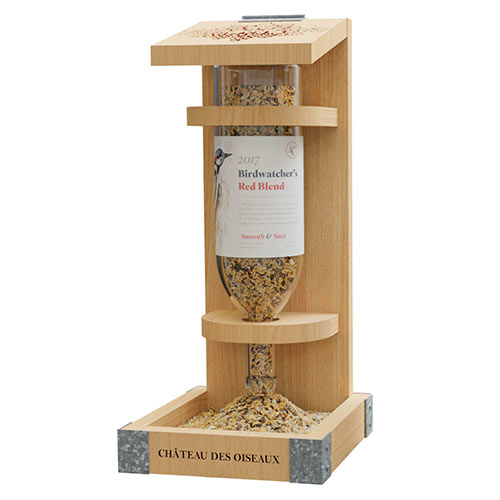 Wine Bottle Bird Feeder