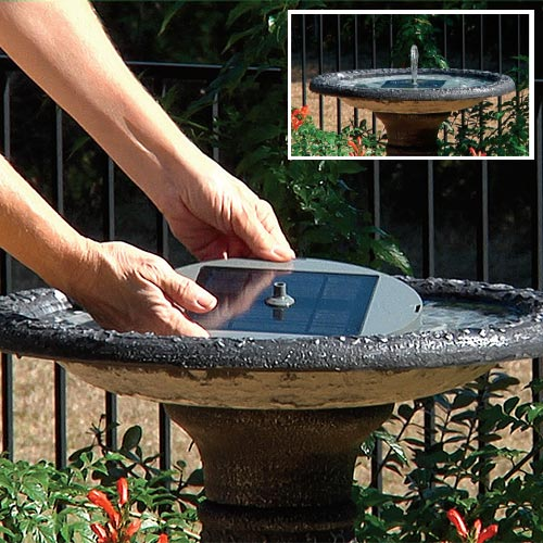 Solar Birdbath Fountain Kit