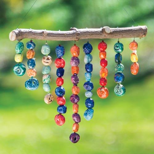 Handmade Hanging Bead Sculpture