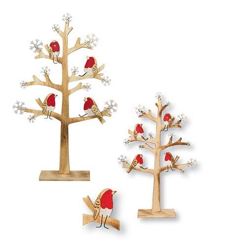 Birds in Trees Sculptures - Set of 2