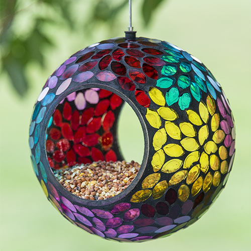 Prismatic Petal Fly-Thru Birdfeeder