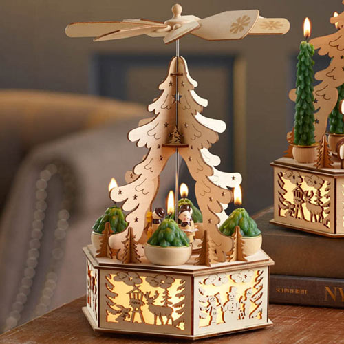 Lighted Alpine Carousel