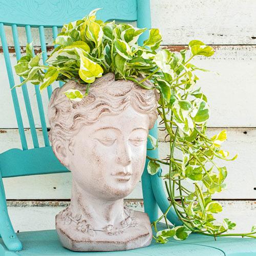 Greek Goddess Head Planter