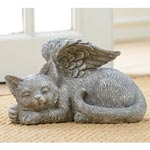 Angel Cat Statue