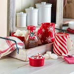Cozy Hand Mugs and Peppermint Twist Hot Cocoa Mix