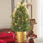 Jingle Bells Decorated Spruce Tree