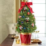 Nutcracker Decorated Spruce Tree