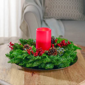 Fresh Noble Fir Candle Ring