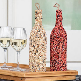 Birdseed Wine Bottles-Set of 2