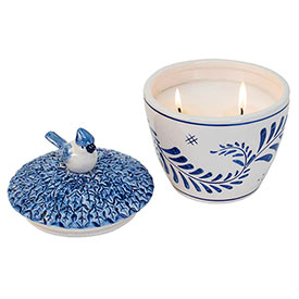 Delft Candy Dish Candle