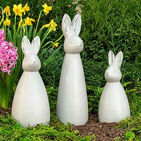 Bunny Statue Trio