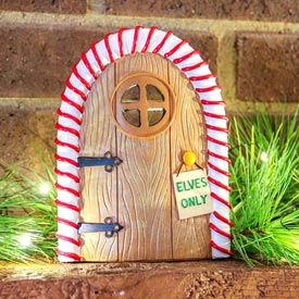 Candy Striped Elf Door