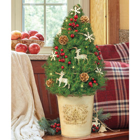 Woodland Decorated Spruce Tree