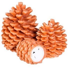 Led Pinecone Candles - Set of 3