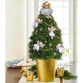 Angel Decorated Spruce Tree