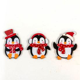 Playful Penguins Potted Spruce