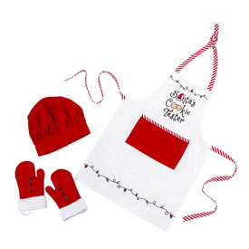 Santa's Cookie Tester Apron Set