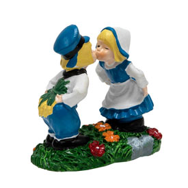 Kissing Dutch Couple Houseplant Stake