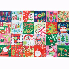 Holiday Art Coasters: Set of 24
