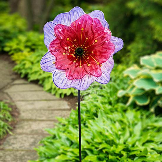 Glass Flower Stake