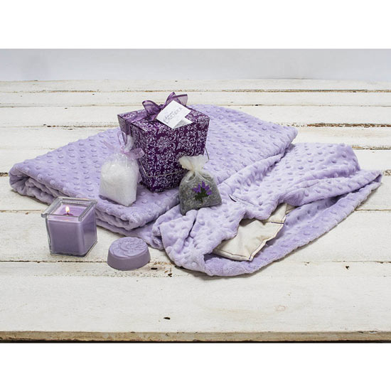 Lavender Take-Out Box & Aromatic Lavender Warming Blanket
