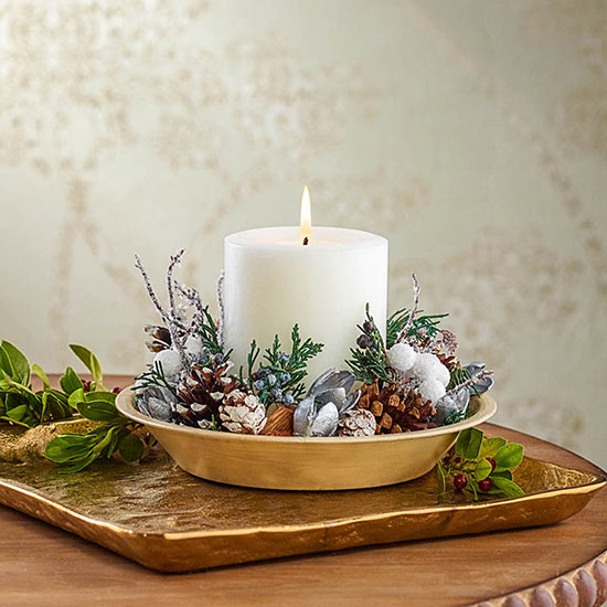 Wintry Woods Potpourri Candle Set