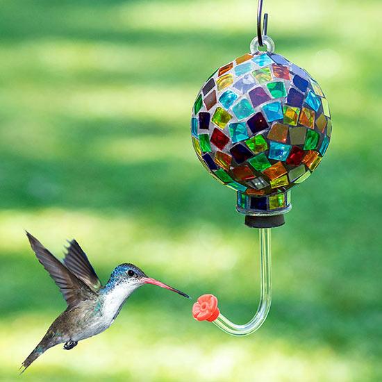 Colorful Mosaic Hummingbird Feeder