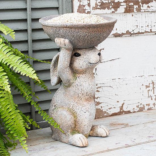 Uplifting Bunny Birdfeeder
