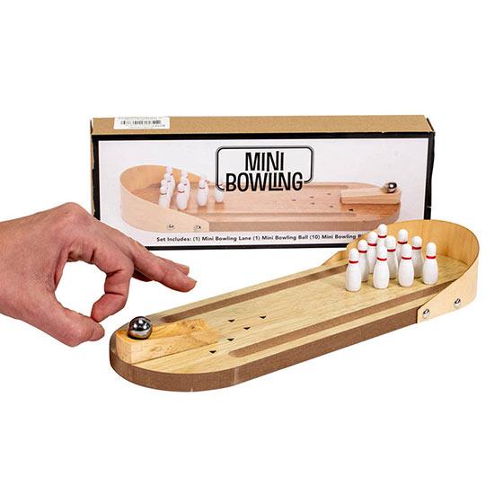 Miniature Wooden Bowling Set