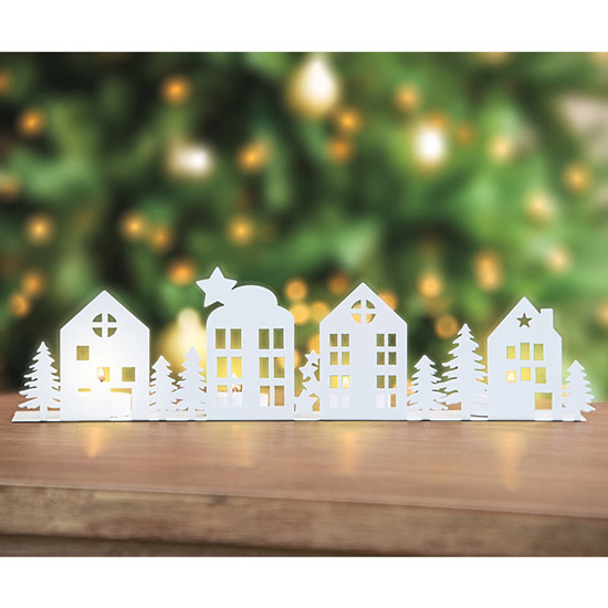 Holiday Village Tea Light Holder