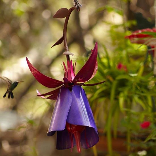 Fuchsia Hummingbird Feeder