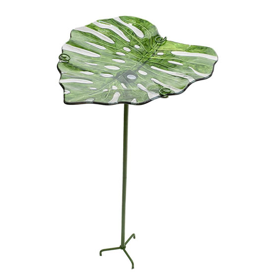 Tropical Leaf Birdbath
