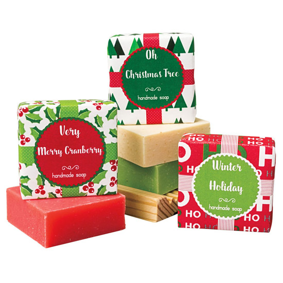 Holiday Soap Gift Set with Tray