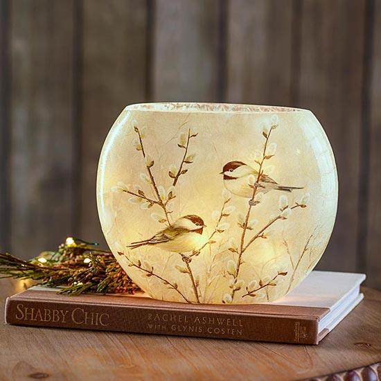 Chickadee Glass Accent Light