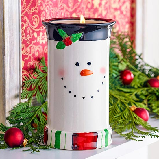 Tall Snowman Candle