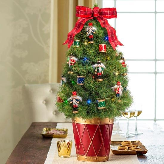 Nutcracker Decorated Spruce Tree