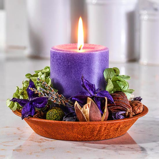 Lavender Potpourri Candle Set