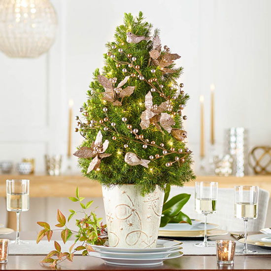 Woodland Gold Decorated Spruce Tree