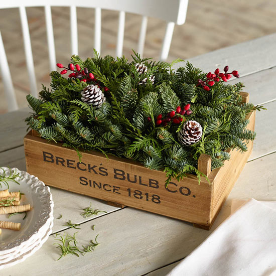 Breck's Crate Centerpiece Planter