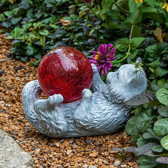 Gazing Ball Cat