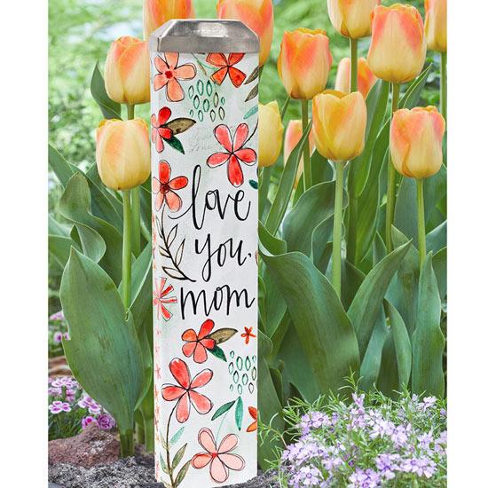 Love You Mom Garden Art Stake