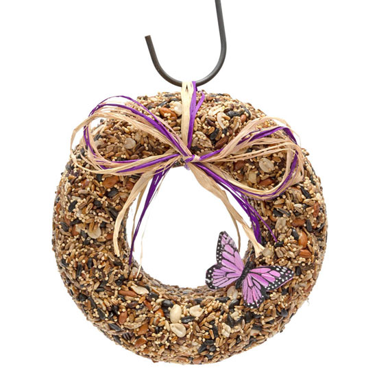 Purple Touches Birdseed Wreath