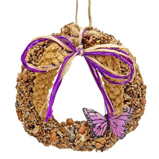 Spring Tweets Mini Birdseed Wreath