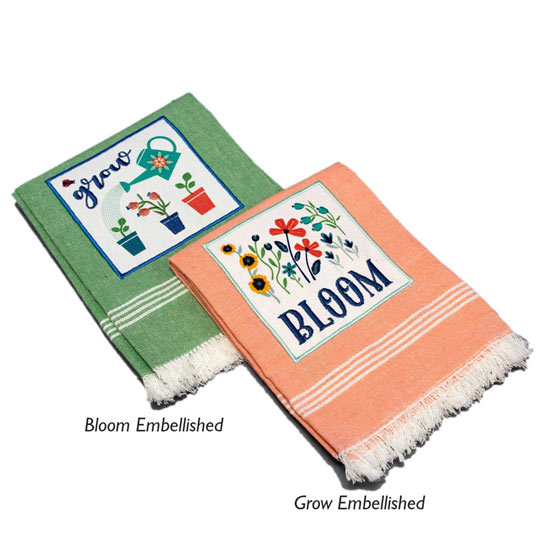 Grow and Bloom Dishtowels