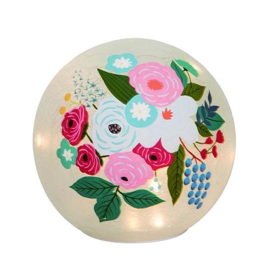 Light Up Floral Globe