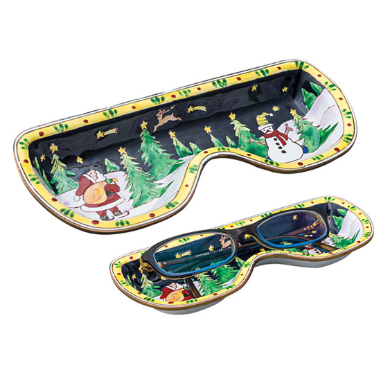 Winter Scene Eyeglass Holder