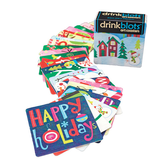Holiday Art Coasters: Set of 24